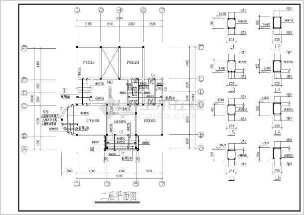 某地3层砖混别墅别墅水岸建筑结构施工图结构畔全套双山图片