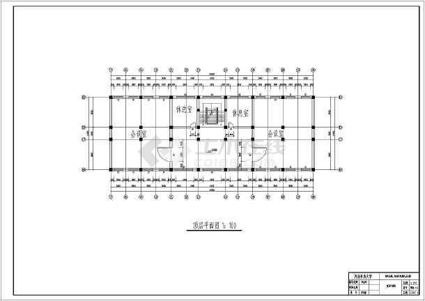 某地6层框架结构办公楼建筑方案图