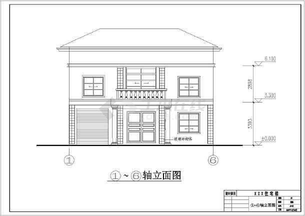 某农村两层砖混结构住宅楼建筑设计施工图
