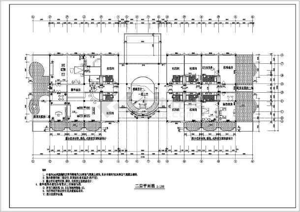 某地2层框架结构酒店建筑扩建初步设计图,图纸包括一层平面图,二