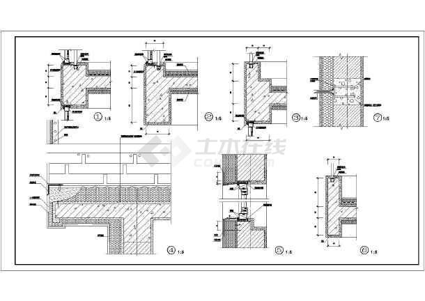 某地6层框架结构退台式多层住宅建筑设计施工图图片