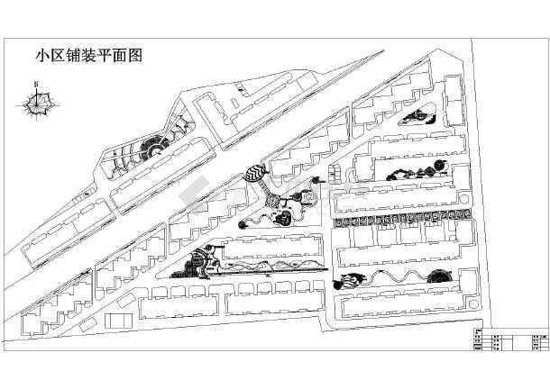 某小区园林景观工程规划设计平面图