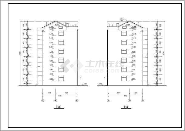 某地六层小区住宅楼建筑设计方案图