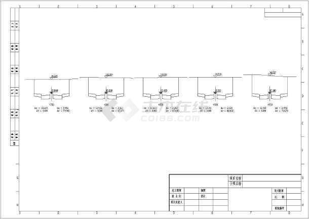 某公路平面图,纵断面,横断面设计图片