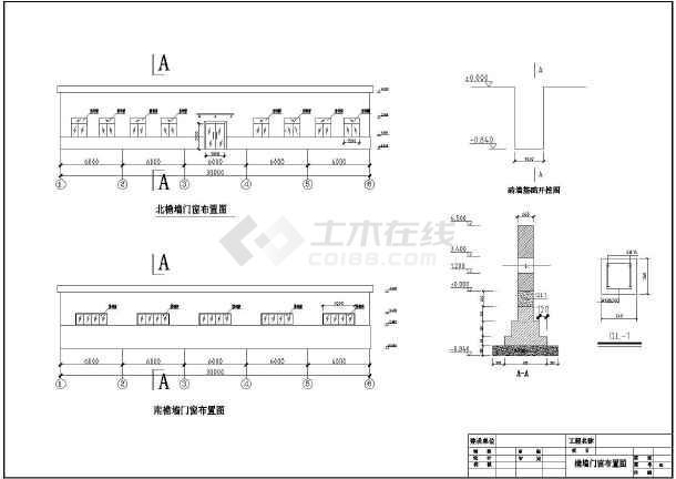 工業建筑 工業廠房車間建筑施工圖 某地單層鋼結構廠房全套方案設計圖
