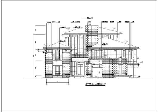 某地3层框架结构别墅建筑设计扩充图