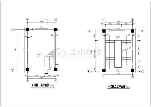 某地4层框架结构消防办公楼建筑设计扩初图