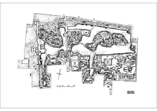 苏州园林拙政园景观规划设计平面图纸