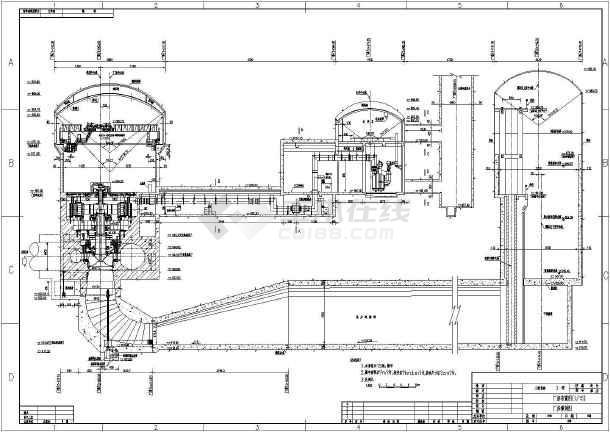 某大型水电站主厂房布置图 使用于施工图阶段高清图片