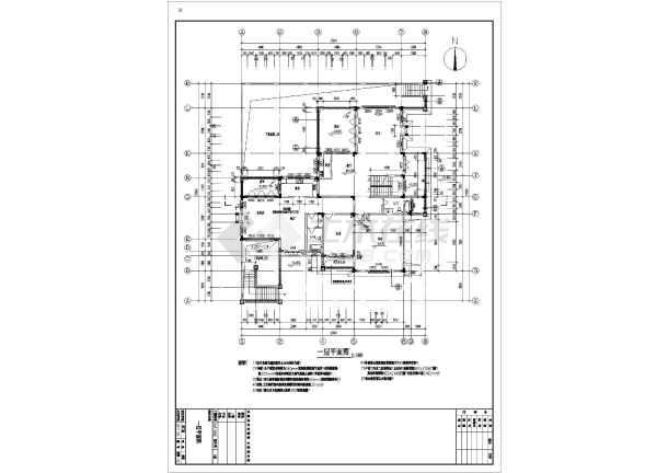 某地一独三层框架结构栋别墅建筑及结构设计施工图