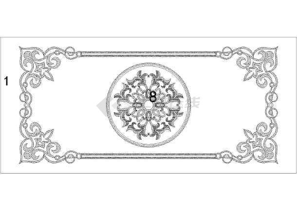 蒙古族特色纹饰及花纹图案cad版详图