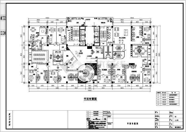 某广场办公区室内装修全套建筑施工图_cad图纸下载