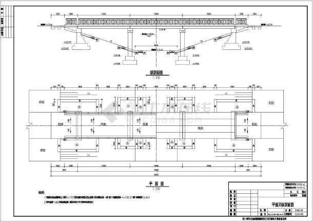 某35m装配式空心板桥梁结构图(农用生产桥)