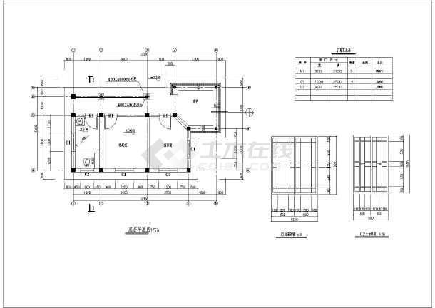 图纸 建筑图纸 古建筑设计 仿古建筑 古建房屋连体连廊景观亭的一套图
