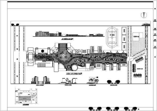 图纸主要内容包含:住宅小区,商业建筑,商业广场,喷泉水道,物业建筑