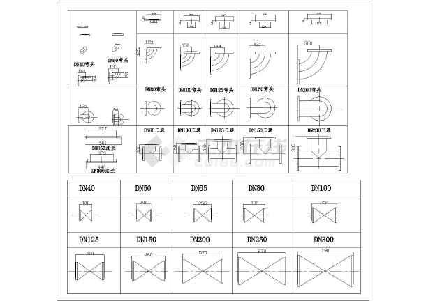 CAD环境工程给排水大全甜点图块工程_cad图不织布图纸常用图片