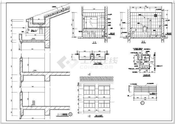 某地大学生宿舍建筑设计施工图(详细)图片