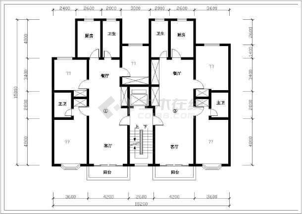 某小区多层住宅户型平面图纸(共20张)
