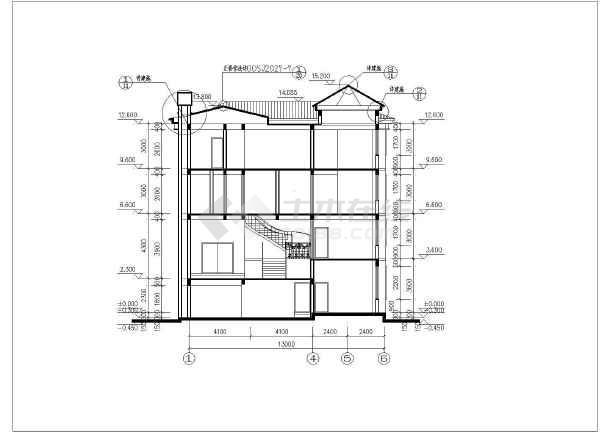 欧式高档带旋转楼梯,地下室三层别墅建筑设计图