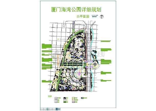 某地区沿海城市海洋公园详细规划总平面图(cad图纸下载)