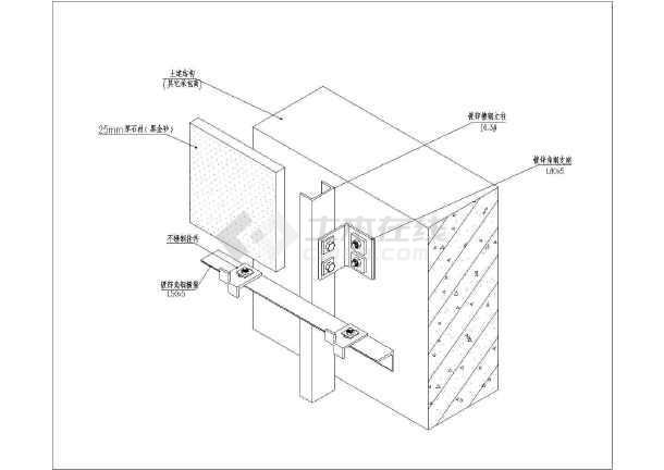 石材图纸结构标准设计cad施工幕墙(适合初级业cad中的excel图片