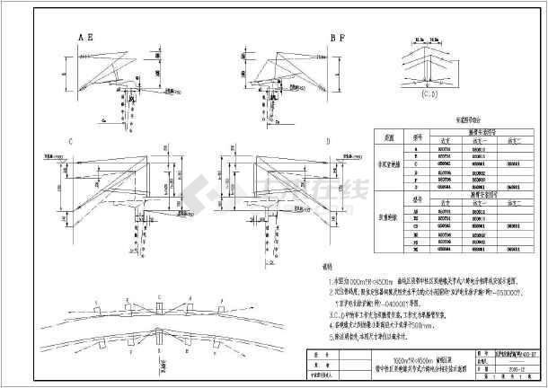 京沪铁路接触网关节式六跨电分相安装单线图(cad图纸下载)