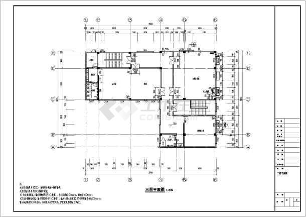 安徽黄山三层楼幼儿园建筑设计施工图
