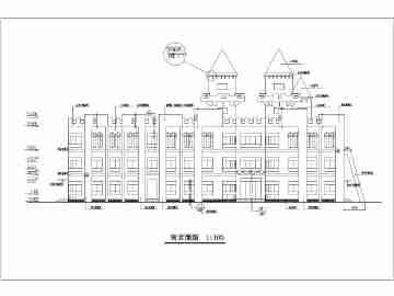 某地三层欧式风格幼儿园建筑设计施工图