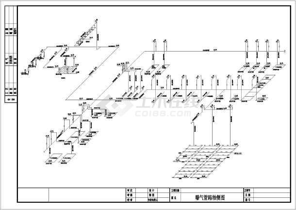本图纸属于管路轴测图,包含管道轴测三围图纸,简单安装点说明.