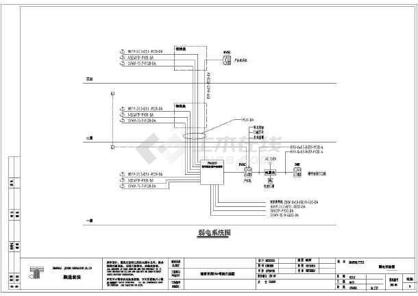 一栋3层私家小别墅电气设计施工图_cad图纸下载-土木