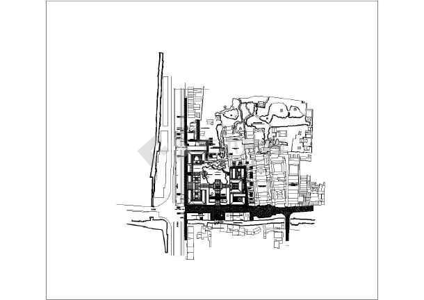 苏州博物馆仿古建筑cad设计方案图纸