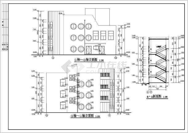 图纸 建筑图纸 教育建筑 幼儿园设计 某地三层9个班级幼儿园建筑施工