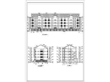 某地层砖混结构坡屋顶住宅建筑施工图