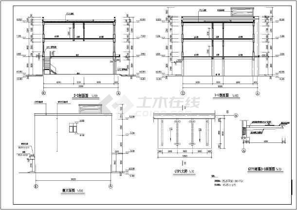 某地三层砖混结构综合商业楼建筑设计施工图