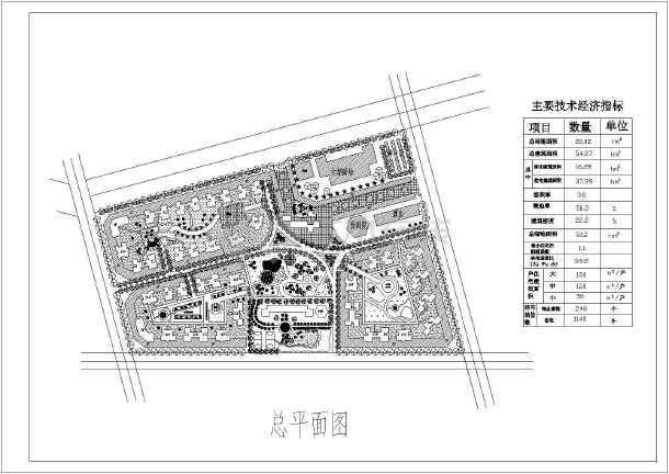 图纸主要内容包含:,住宅,商业建筑,物业建筑,人工水域,酒店建筑,教育
