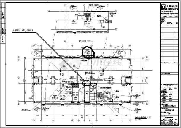 20层框架核心筒商务办公楼全套建筑施工图,图纸包括:目录,建筑设计