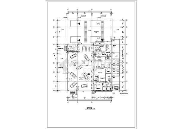 某地两层钢结构一汽4s店建筑方案图