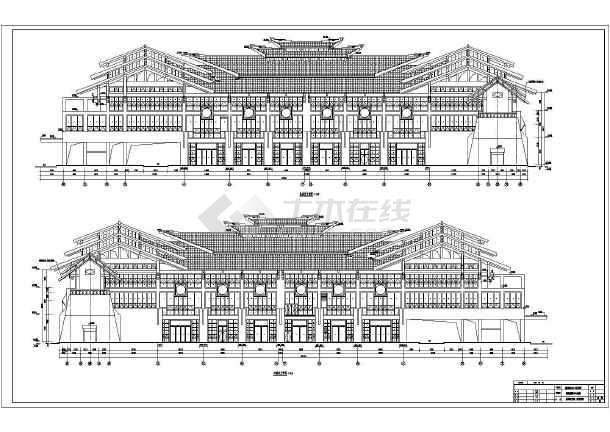 荔波縣大小七孔景區游客集散中心主樓建筑施工圖