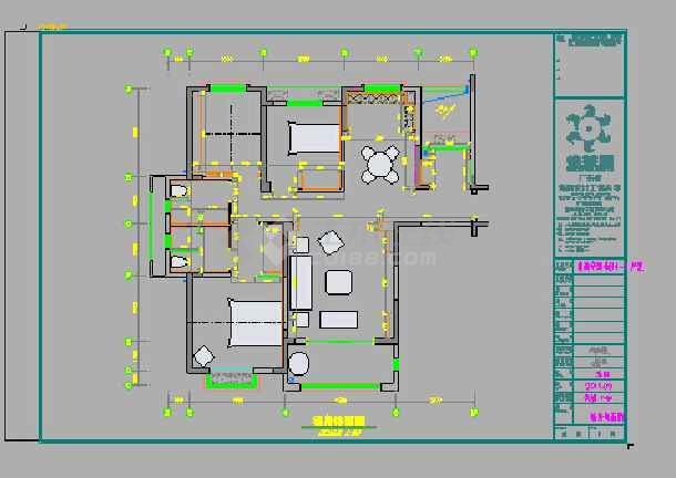 三室两厅室内装修设计图纸(中式,欧式,东南亚风格三个