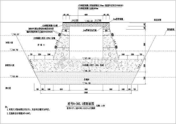 仙游县玉塔土地排洪渠施工图(4m*4.6m)-图2