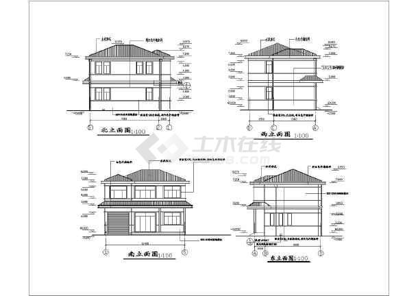 某二层砖混别墅建筑结构施工图纸