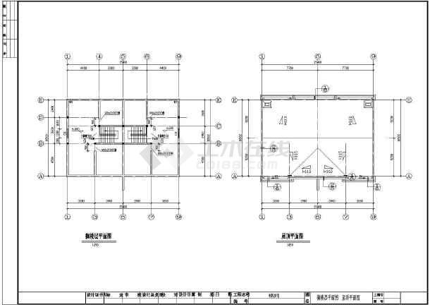 某二层阁楼336平米农村兄弟小别墅建筑设计图(含结构图)