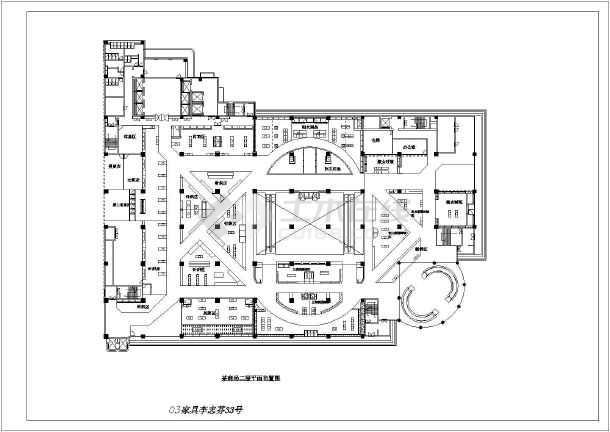 超市空调设计图   立即查看 【安徽省】某地某商场二层平面布置图