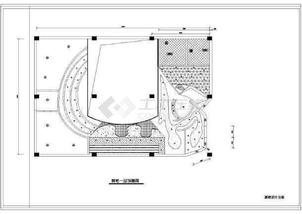 酒吧设计装修方案图(包括原始平面图等)图片1