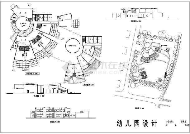 某幼儿园建筑设计规划图总图(cad平面图)图片1
