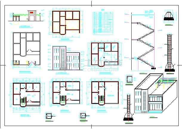 某地民房自由住宅楼建筑设计施工图