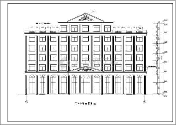 某地区小型欧式办公楼建筑设计图(共9张)