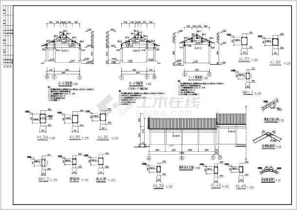 某二层古建筑混合结构设计施工图纸
