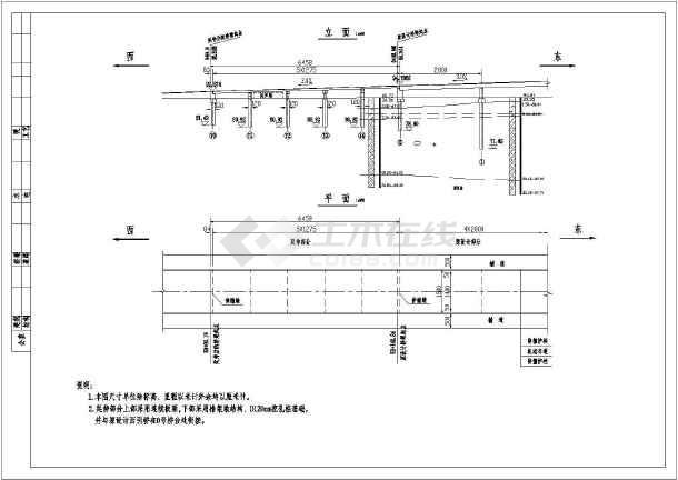 某图纸5x13米连续板结构设计施工图_cad铁皮窗台雨棚简易桥梁图纸图片