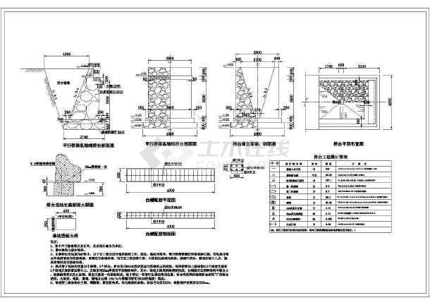 130m长四级跨水河公路桥设结构钢筋图-图3